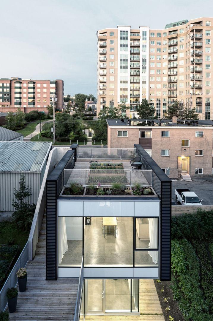 Immeuble Contemporain Avec Rooftop Aménagement Habitation