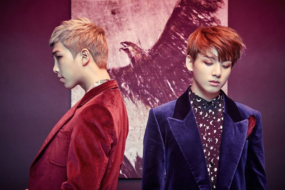 "BTS - Jungkook & RapMon ""WINGS"" concept photo"