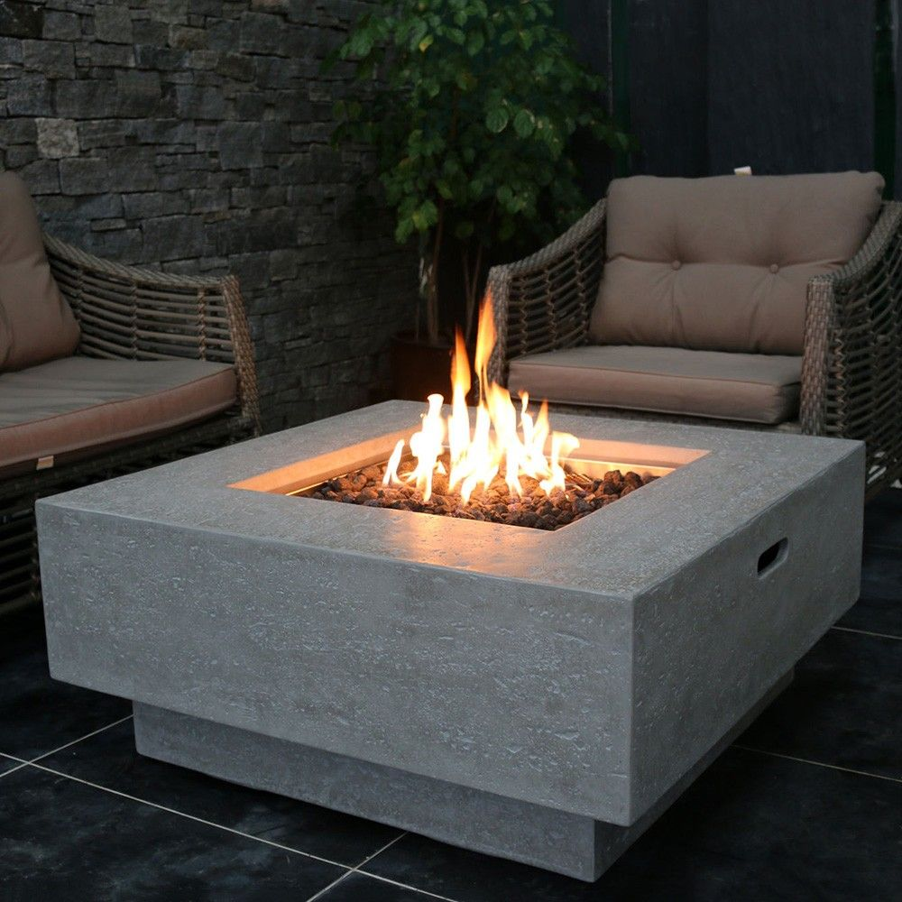 Manhattan Concrete Fire Table In 2019 Tables