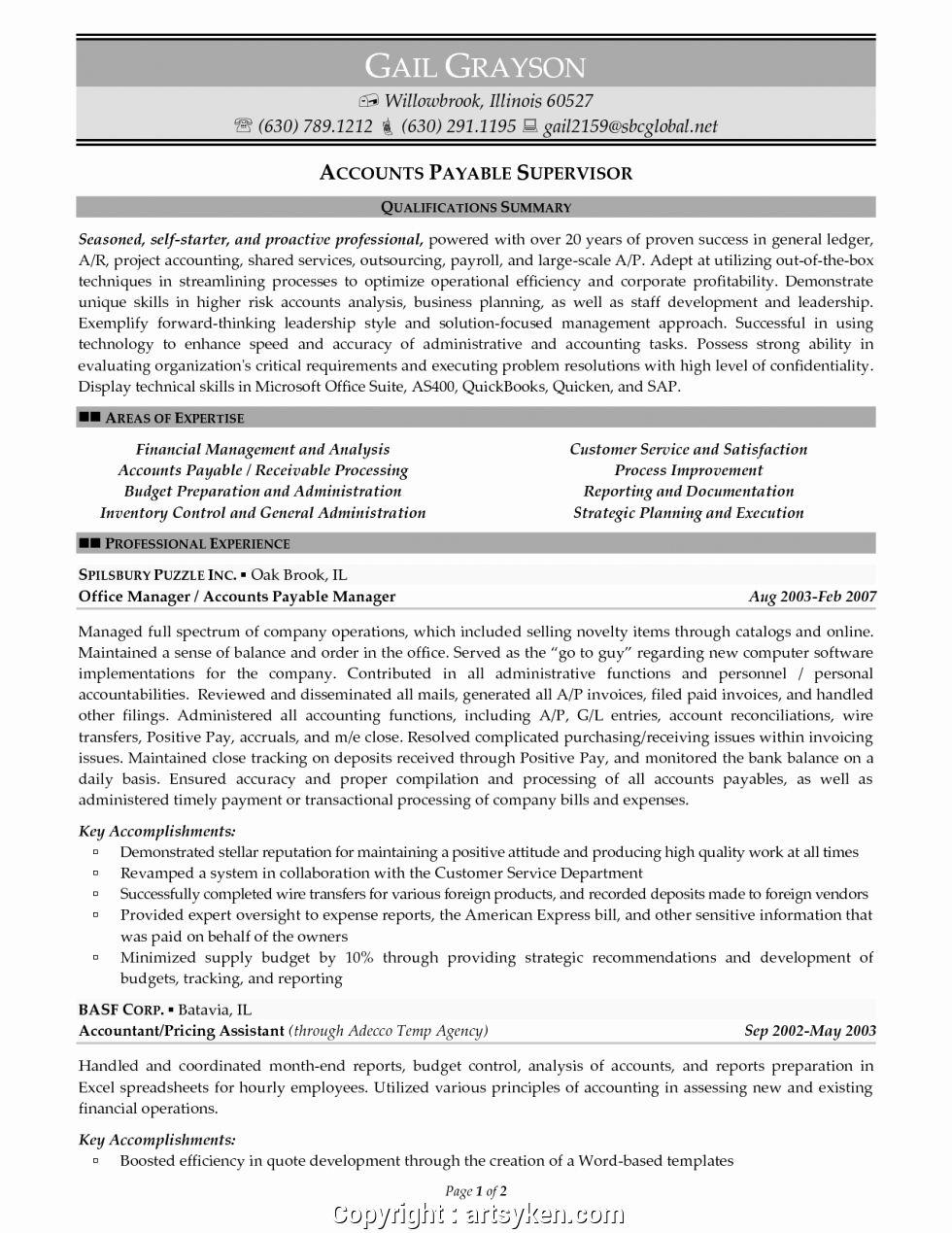 23 accounts payable job description resume in 2020