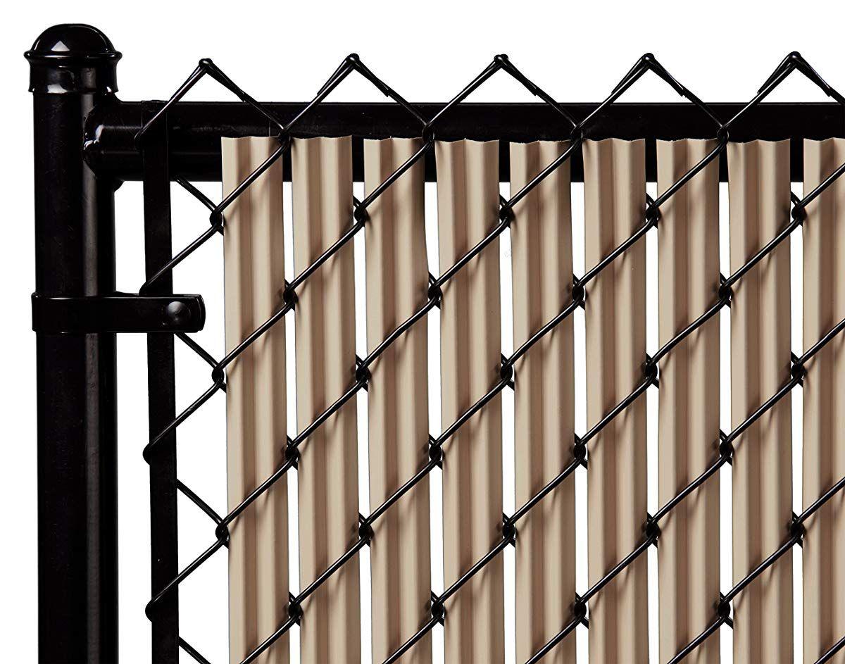 4ft Beige Ridged Slats For Chain Link Fence Backyard