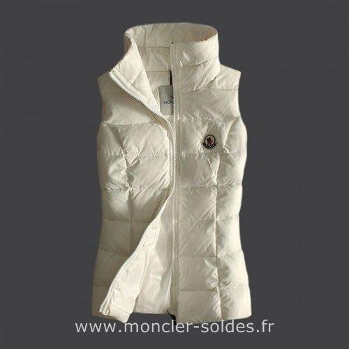 20ae62918254 Moncler Femme Gilet Sans Manche Blanc      W.I.S.H.L.I.S.T ...