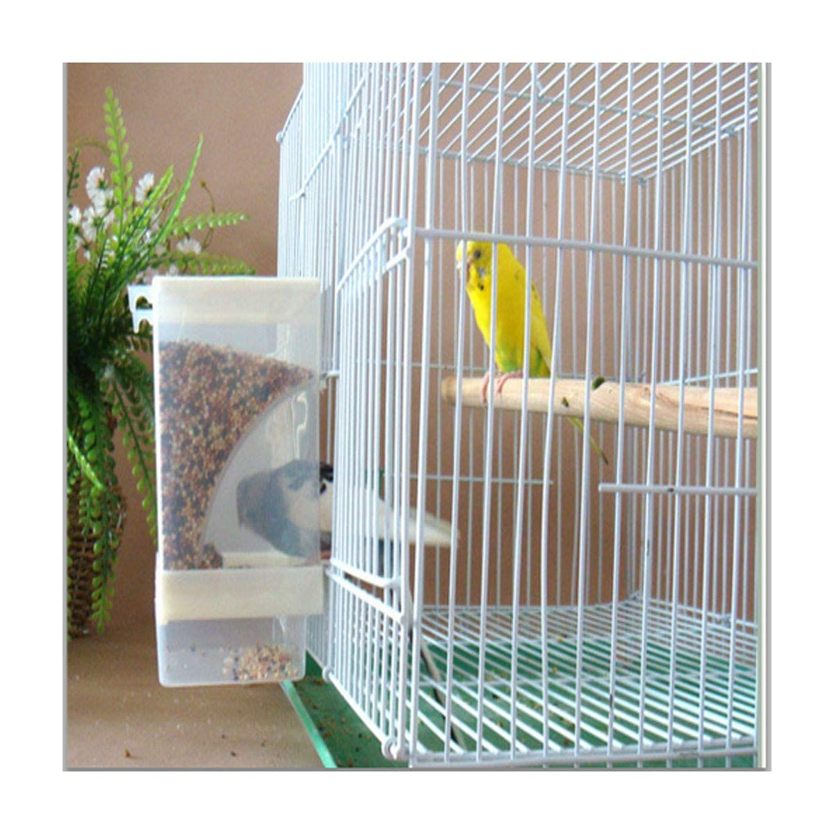 Parrot Bird Feeder Seed Food Container Cage Accessories for Canary Finch