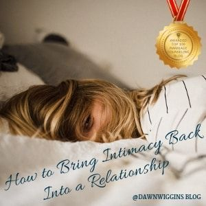 getting intimacy back in a relationship