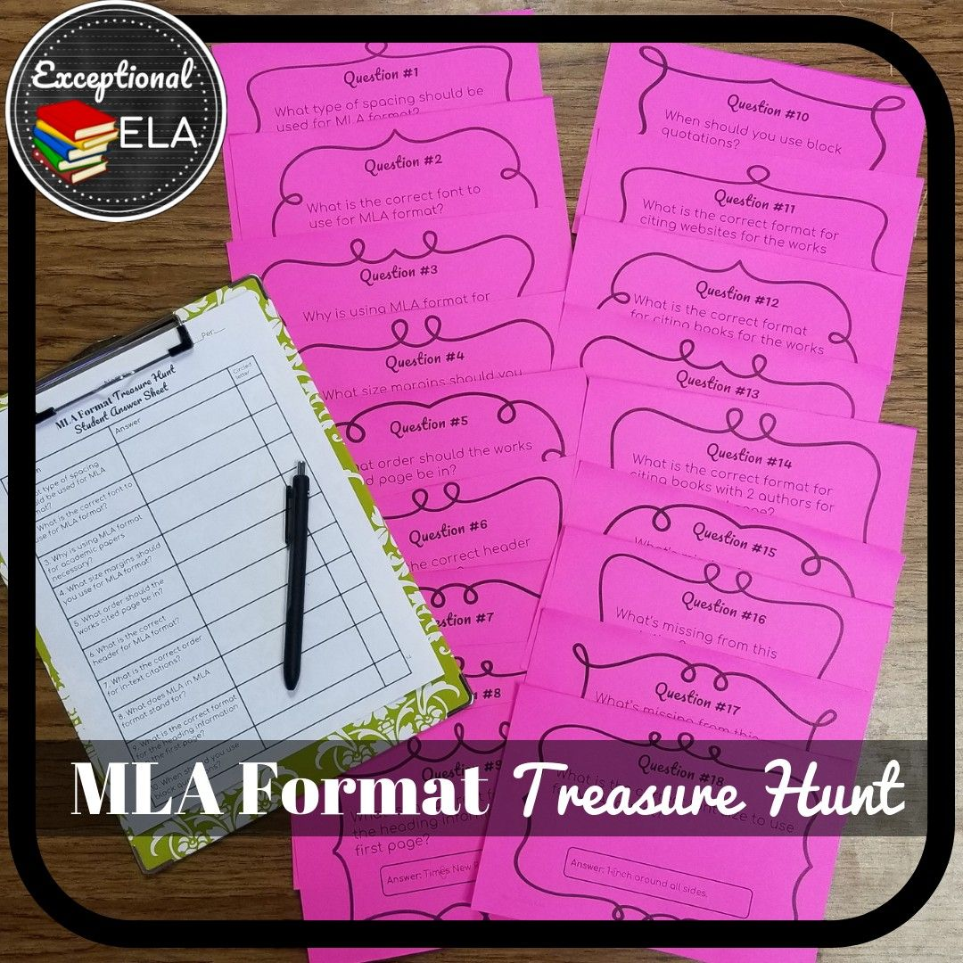 Students Review The Aspects Of Mla Format In A Get Up And