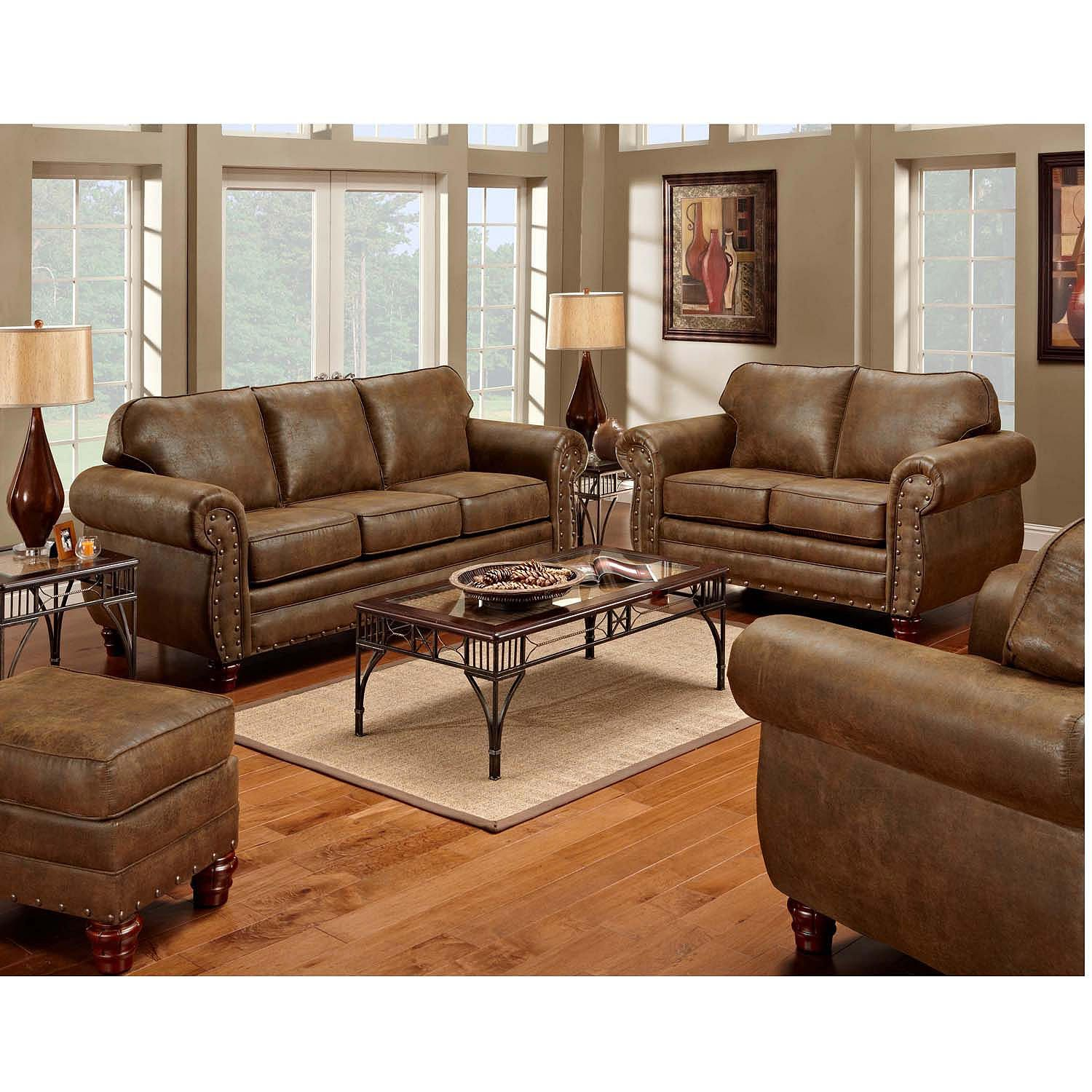 Lawrence 3 Piece Reclining Set Sofa Console Loveseat Glider Recliner Various Colors Sam S Club In 2020 4 Piece Living Room Set Living Room Leather Living Room Sets #sams #living #room #furniture