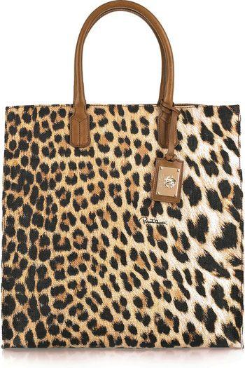 Roberto Cavalli Leopard-Print Canvas Tote - Fashion Fuss  be4394cd3ad2b