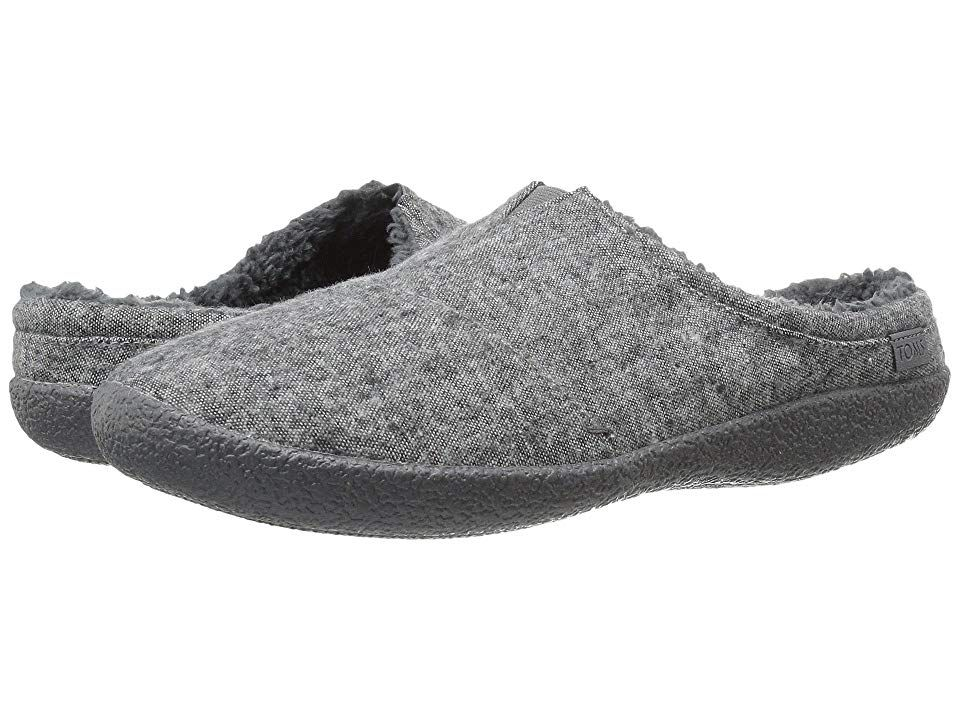 TOMS Berkeley Slipper Grey Slub Textile Mens Shoes With every pair of shoes you purchase TOMS will give a new pair of shoes to a child in need One for One The TOMS Berkle...