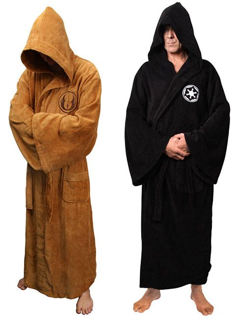 Star Wars Sith and Jedi Bath Robes can be ordered for  89.99 at ThinkGeek.  Thinking I could make one of these for a LOT less! bd570ca66