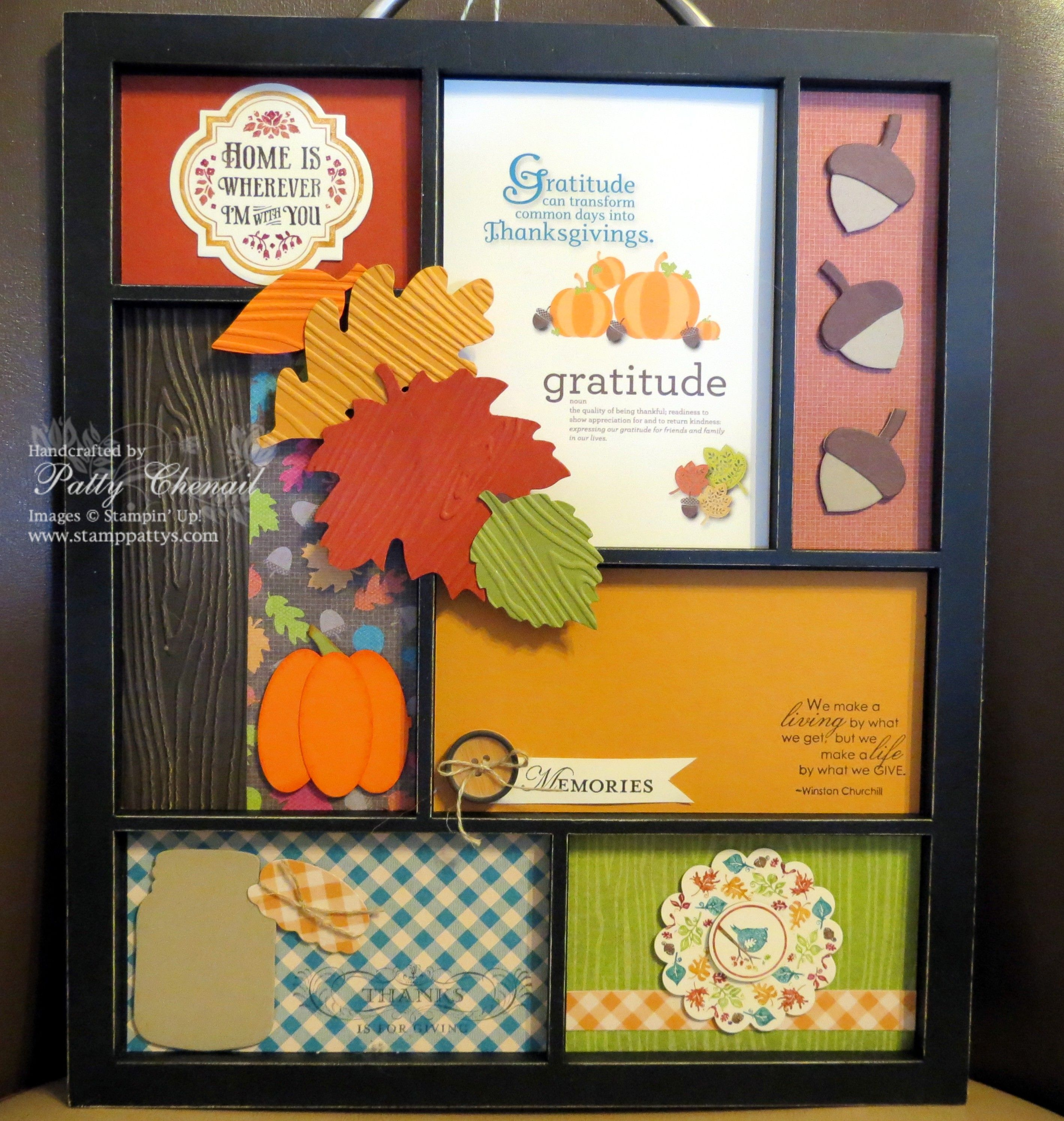 Thanksgiving decor created from fabulous Stampin' UP! products!