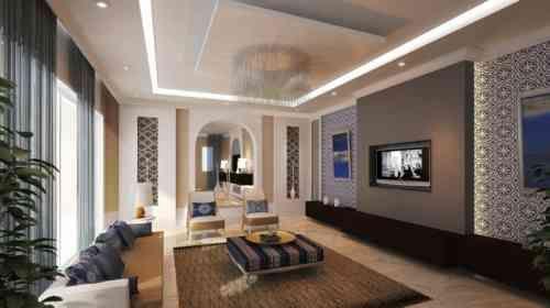 Grand salon oriental et moderne
