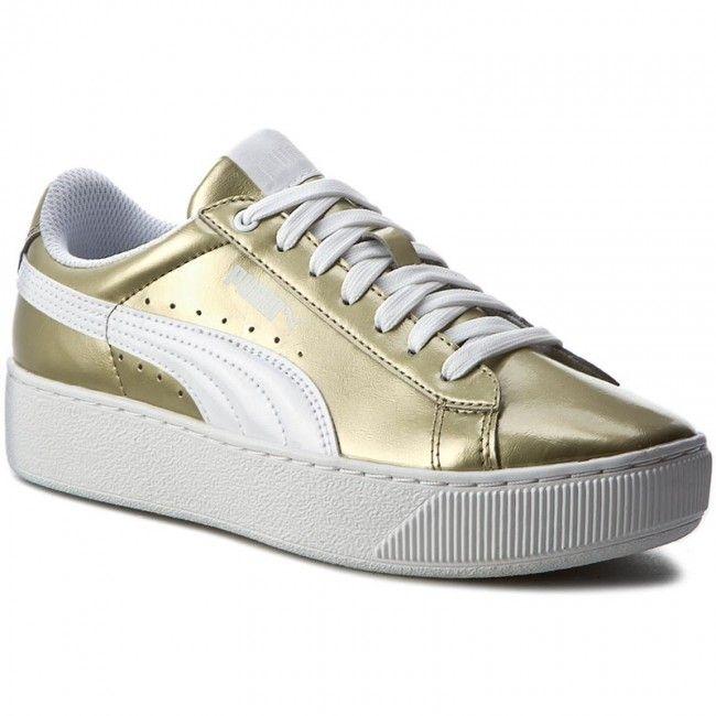 Puma Vikky Platform Metallic Leather Gold 363609 01