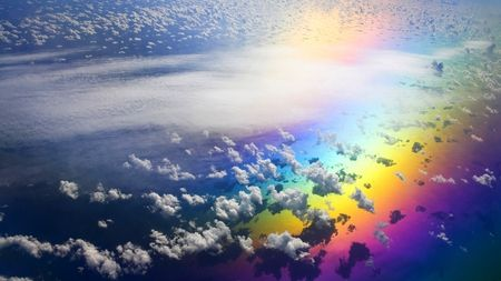 Real Rainbows And Clouds Google Search Rainbow Sky Clouds