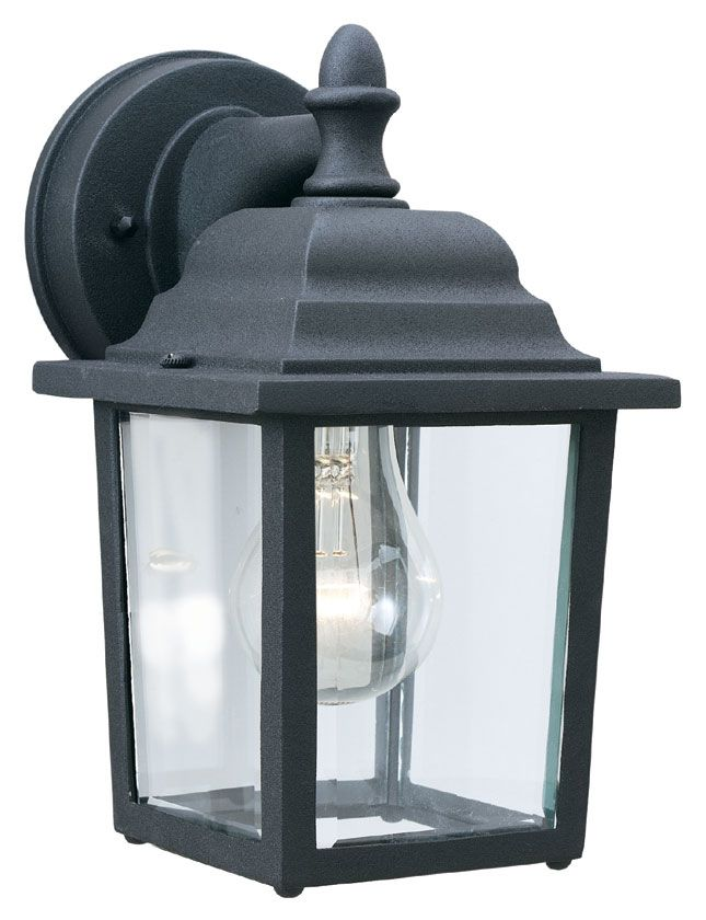 Thomas Lighting Sl94237 Outdoor Essentials Traditional Black Finish 5 5 Wide Exterior Wall Mount Outdoor Light Fixtures Black Outdoor Wall Lights Wall Lantern