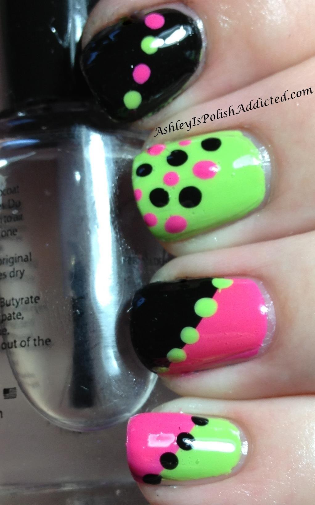 ☮✿☆ NEON NAILS ✝☯☆☮ | uñas | Pinterest | Hermosa, Diseños de ...