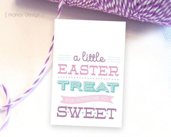 Easter treat tags printable easter tags easter gift tags easter easter treat tags printable easter tags easter gift tags easter party favors easter favors neighbor gifts negle Gallery