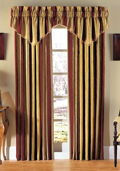 Waverly Capulet Stripe Window Panel And Valance Online Only