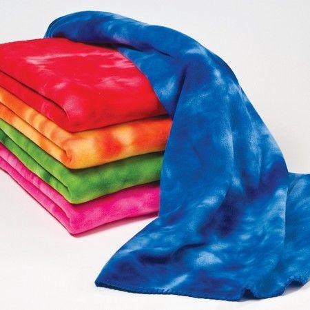 61b9f17fa6 Micro Fleece Tye Die 50x60 Throw Blanket with Whip stitching (Minimum 24)