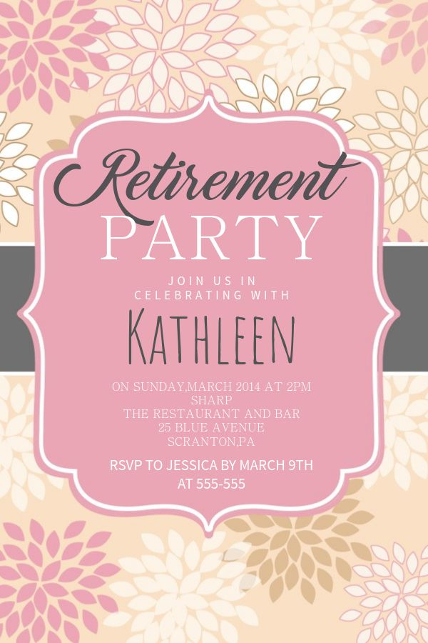 Printable Retirement Party Poster Flyer Design Click To Customize
