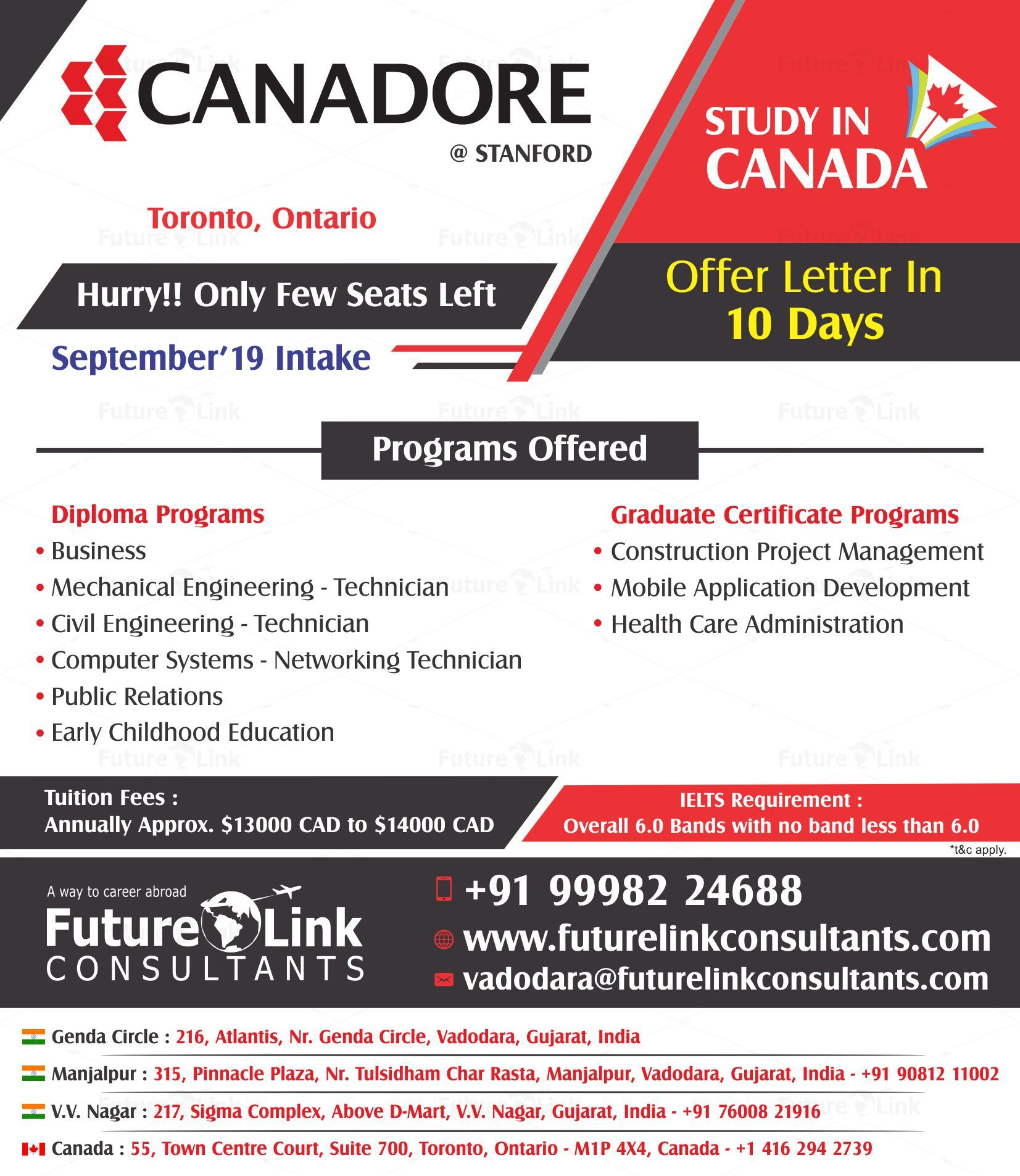 Obtain prolific education by studying in the Canadore College