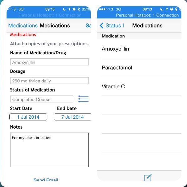 Track your medications with MyMeC App