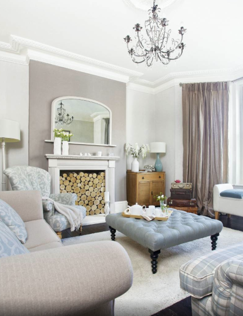 A More Formal Take On The Modern Country Home Particularly Like This Muted Colour Palette Why Not Head Taupe Living Room Blue Living Room Beige Living Rooms #taupe #living #room #furniture