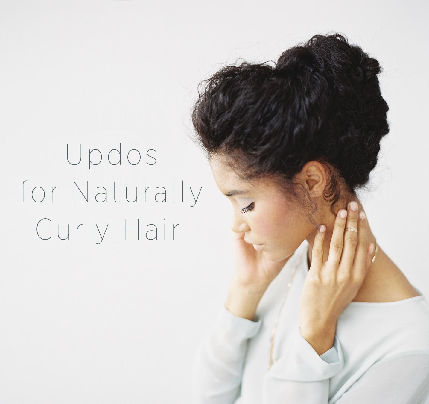 Wedding Updo for Naturally Curly Hair hurrr Pinterest