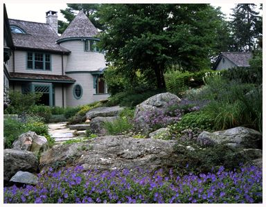 Maine Landscape Architect Bruce John Riddell - garden tours many beautiful photos of their work.