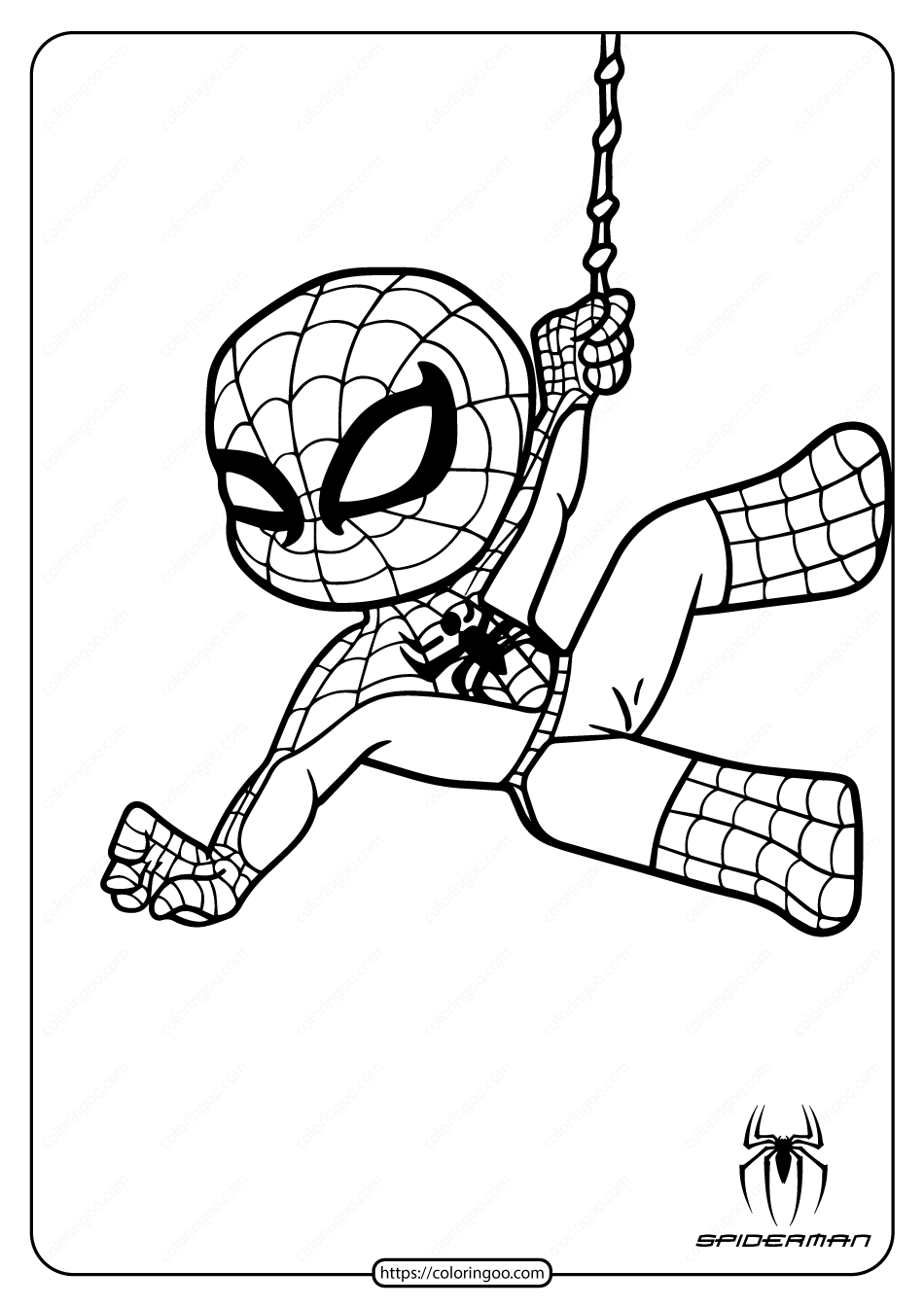 Cute Spiderman Coloring Pages For Kids Spiderman Coloring Spider Coloring Page Superhero Coloring Pages