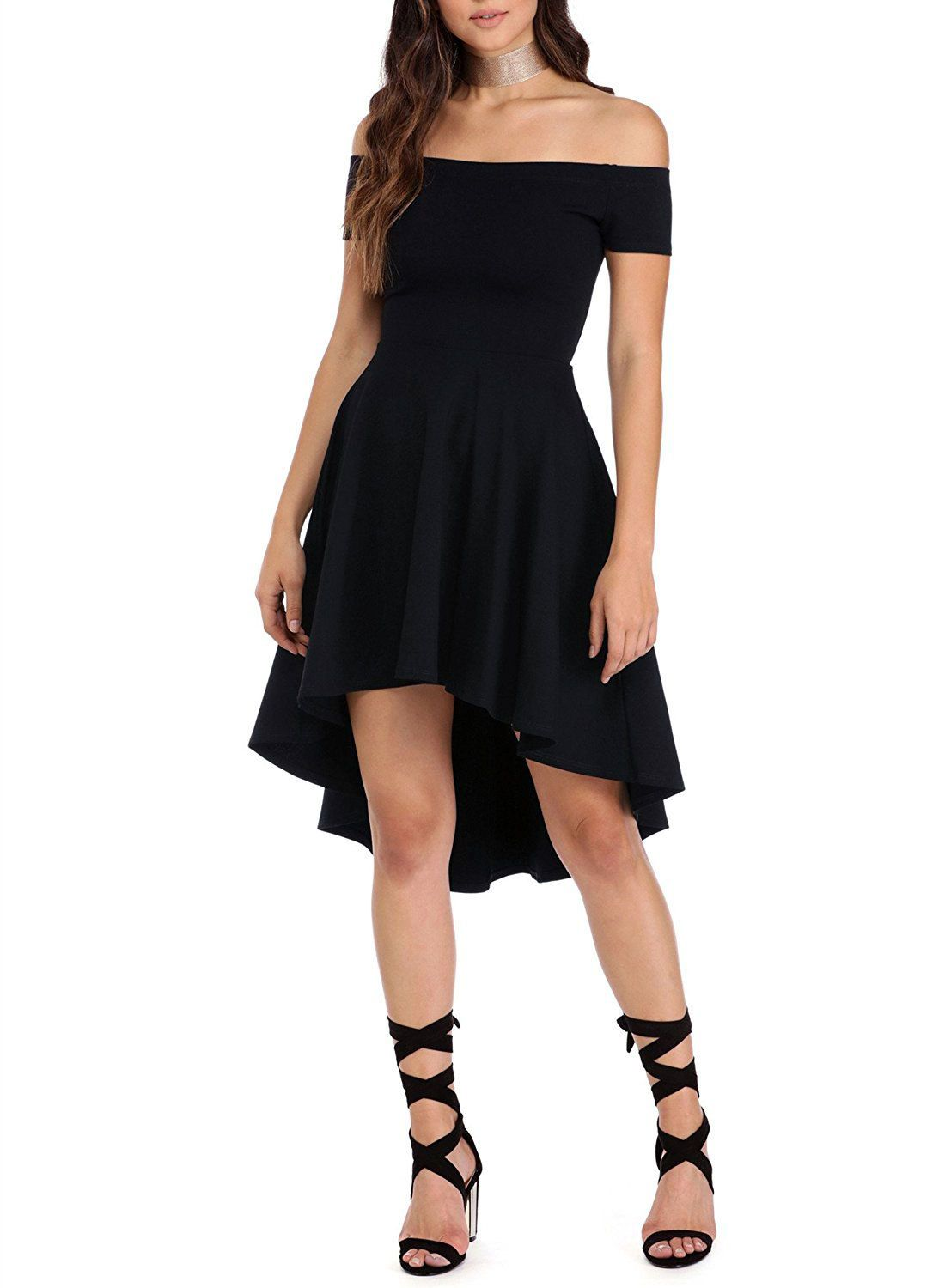 off the shoulder dresses are the perfect choice for warm