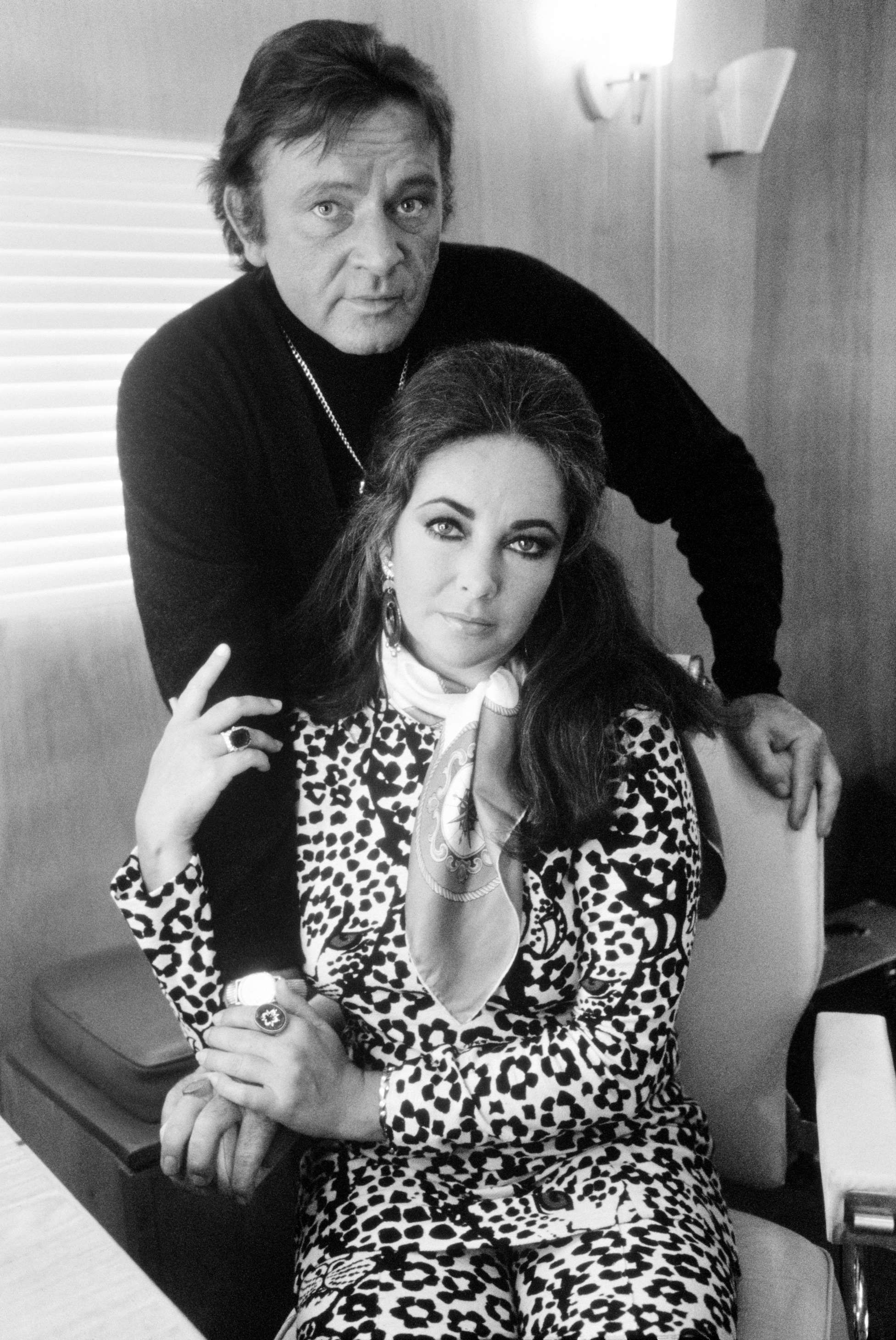 Elizabeth Taylor & Richard Burton, 1974 by Terry O'Neill