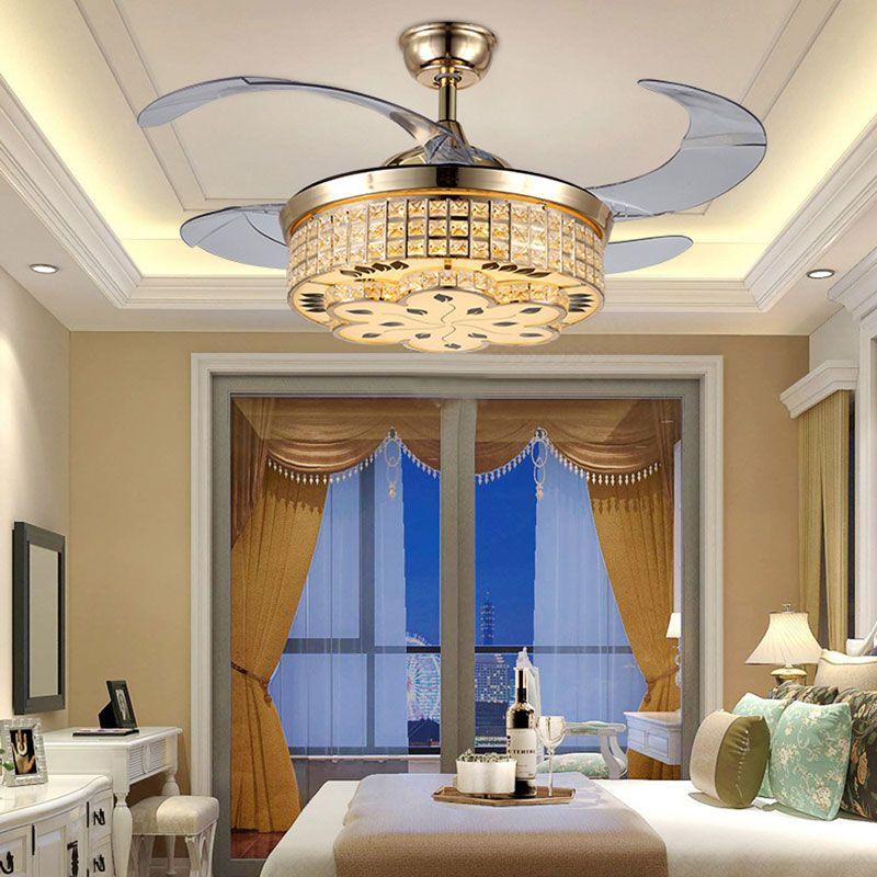 Deckenventilator Mit Led Lampe Kristall Mit Fernbedienung Home Decor Ceiling Lights Decor