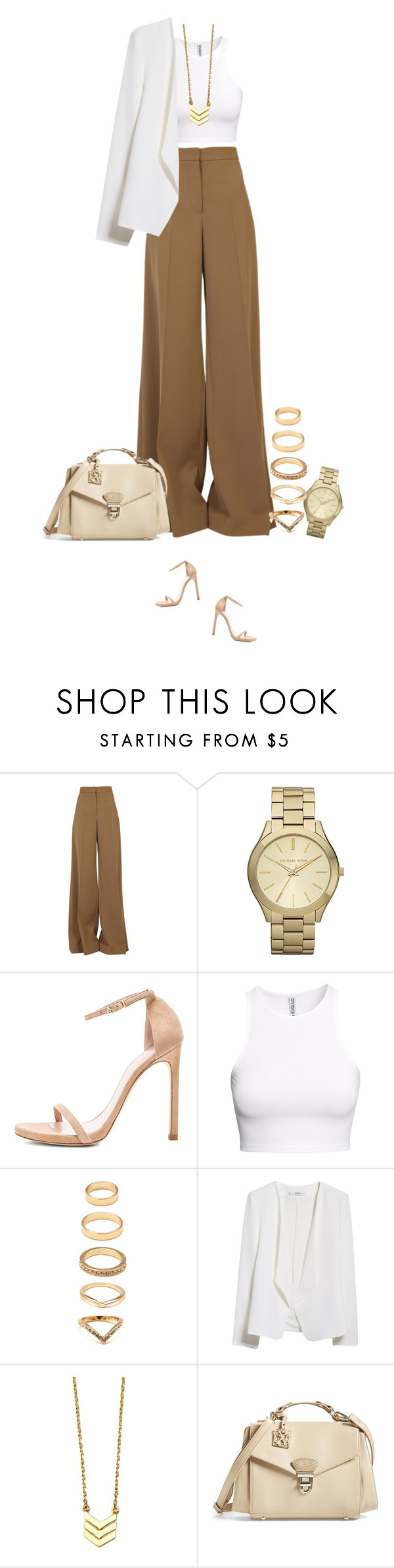 """""""Fancy dinner !"""" by azzra ❤ liked on Polyvore featuring STELLA McCARTNEY, Michael Kors, Stuart Weitzman, H&M, Forever 21, MANGO and CXL by Christian Lacroix"""