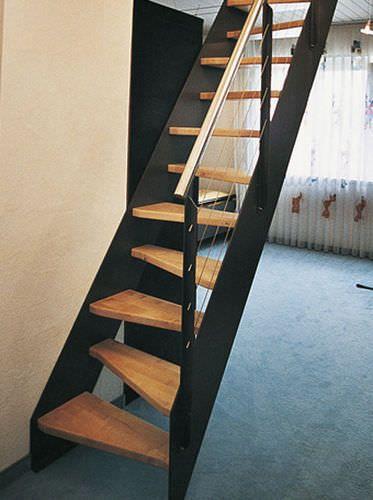 Escalera recta / con zancas laterales / sin contrahuellas samba ...
