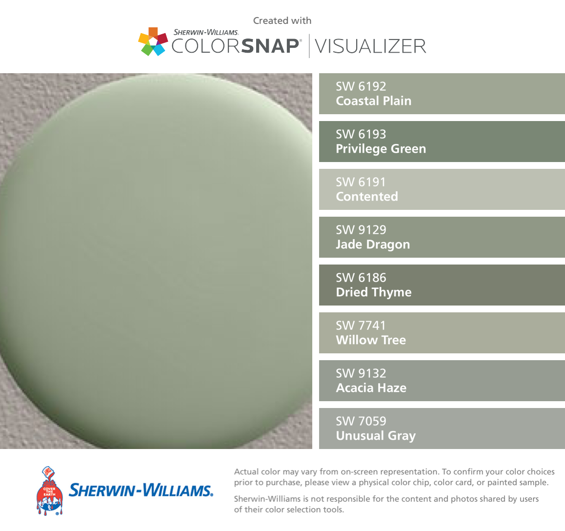 Sherwin williams color match for restoration hardware bay - What color is sage green ...