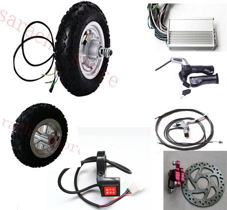 electric skateboard conversion kit electric scooter hub motor 10 500W 36V electric brushless hub motor for scooter
