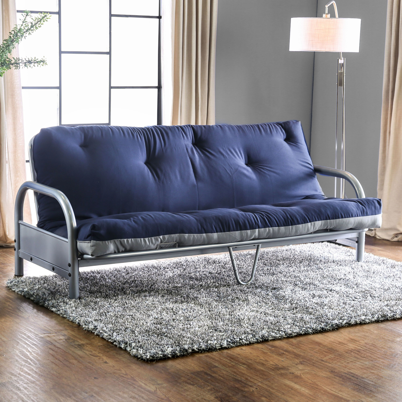 Furniture Of America Elias Contemporary Two Tone 6 Inch Tufted Futon Mattress Black
