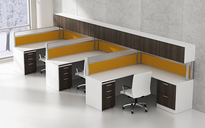 workstation desk laminate contemporary with shelf