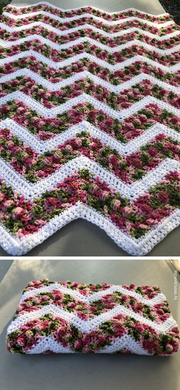 Photo of Cute Kid Baby Crochet Blanket Free Instructions Pattern center