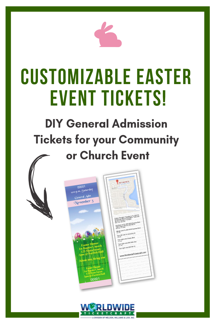 easter tickets  get custom tickets printed for your next