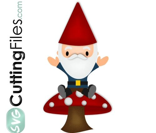 Download Gnome On Mushroom | Cricut projects, Novelty christmas ...