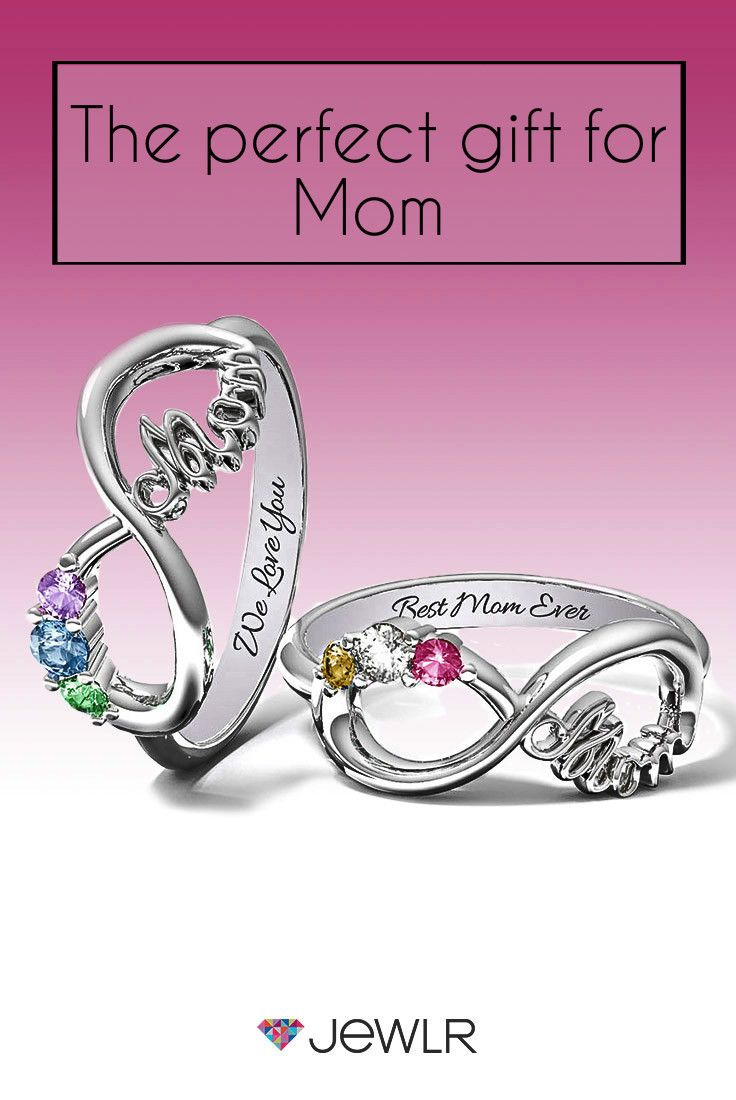 Mom\'s Infinite Love Ring with 2-10 Stones | Free gifts, Infinity and ...
