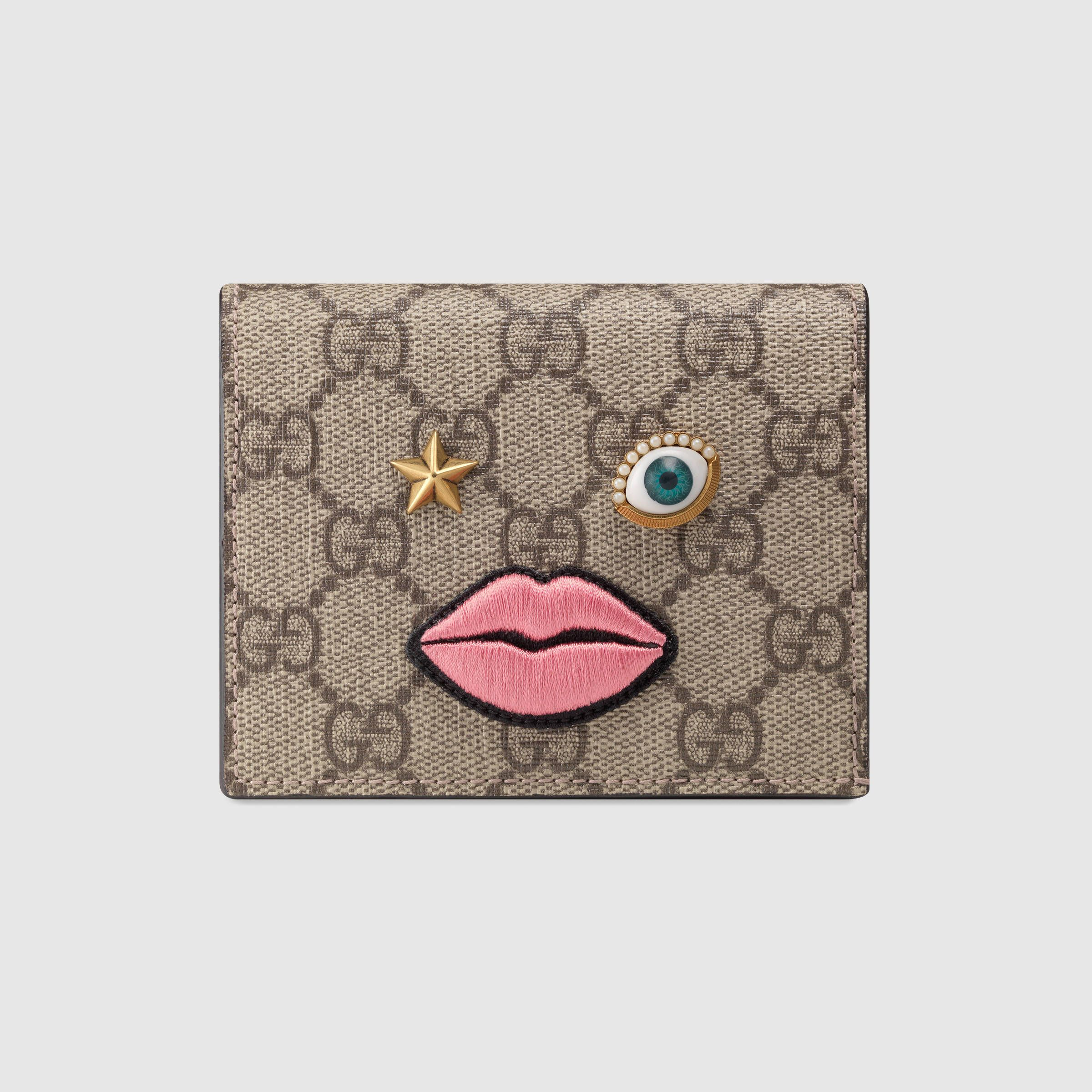 9729f553443 Card case with embroidered face