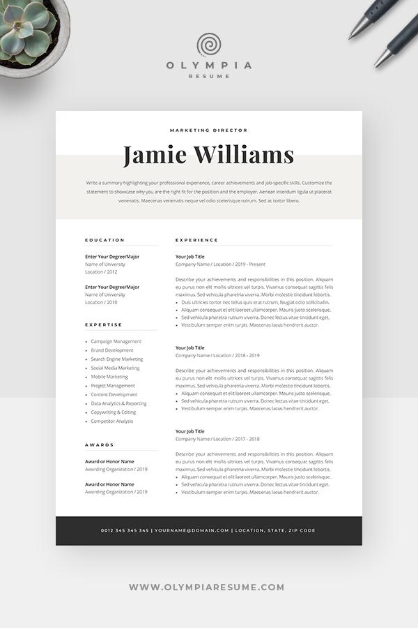 Modern Resume Template Creative Cv For Word Elegant Design Etsy In 2020 Resume Template Professional Creative Resume Templates Modern Resume Template