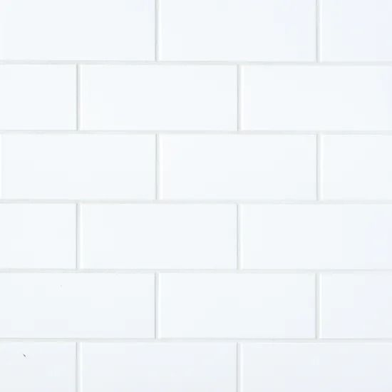 Bedrosians Traditions Ice White Matte 4 X 10 Wall Tile Shower Wall Tile Wall Tiles Shower Floor Tile