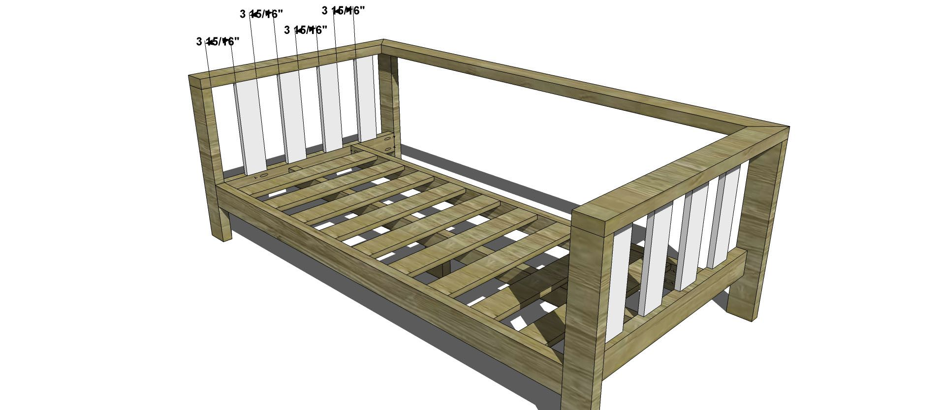Sofa side slats for free diy furniture plans how to build an outdoor reef sofa with modifications for cushions from target
