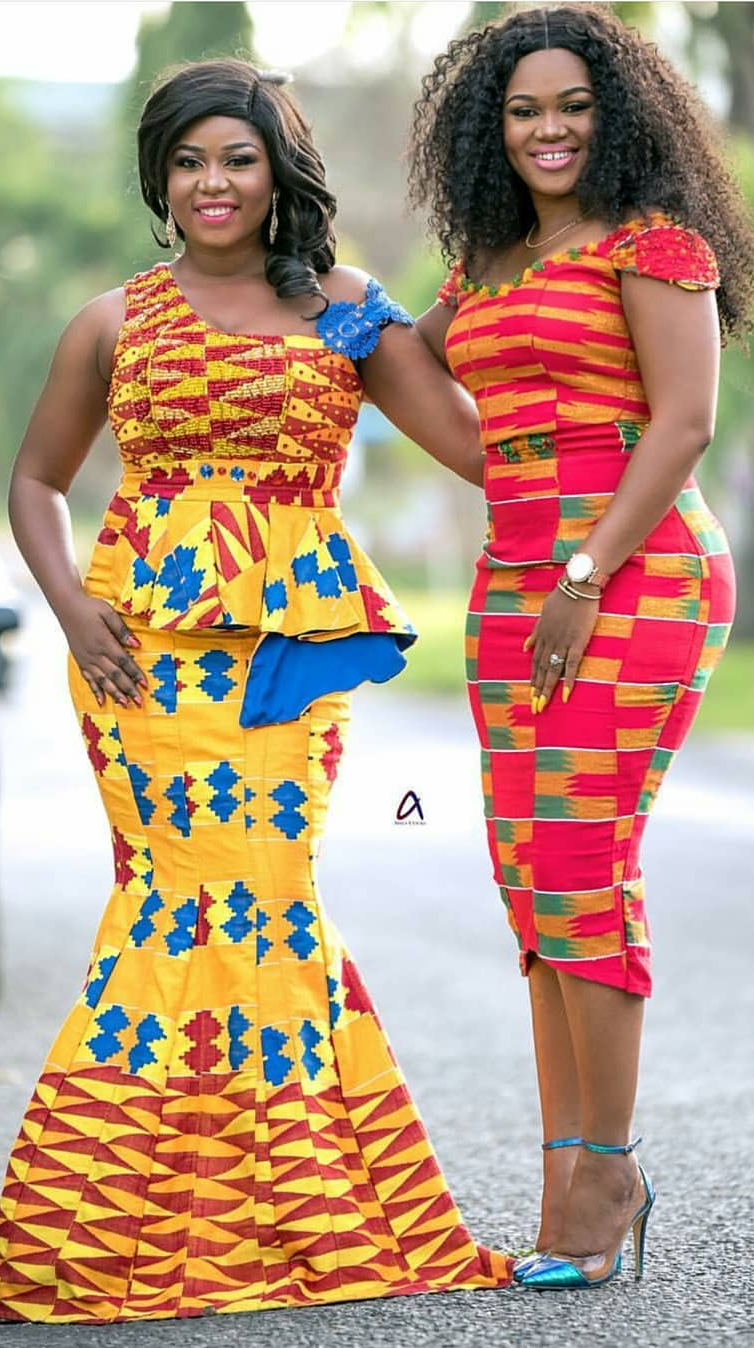 Wedding Ghana Kente Dress African Fashion Ankara Kitenge African Women Dresses African Dresses For Women African Fashion Designers African Fashion Dresses