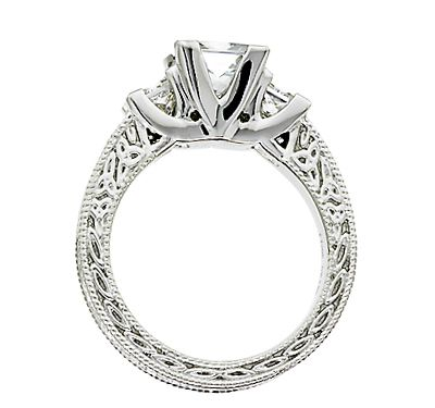Celtic Trinity Knot Diamond Engagement Ring Irish Jewelry Rings