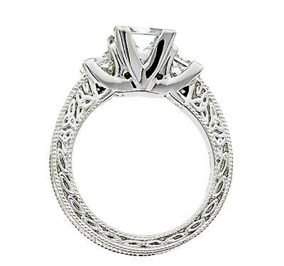 Celtic Trinity Knot Diamond Engagement Ring Irish Jewelry Rings
