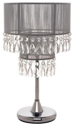 Silver Lamp Shades Captivating Silver Lamp Shade  Crystal Drops  Décor Hire Catalogue  Romeo's Design Decoration